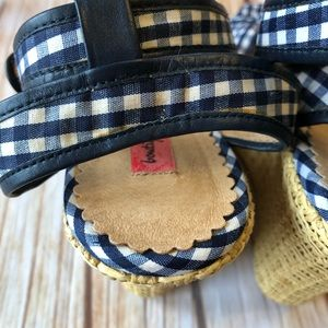 Nordstrom Shoes - Nordstrom Boutique Blue Gingham Checkered Wedges